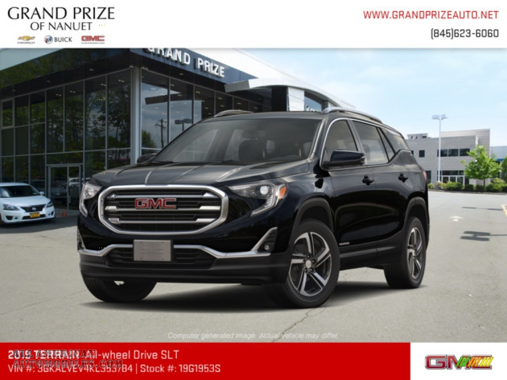 Ebony Twilight Metallic / Jet Black GMC Terrain SLT AWD