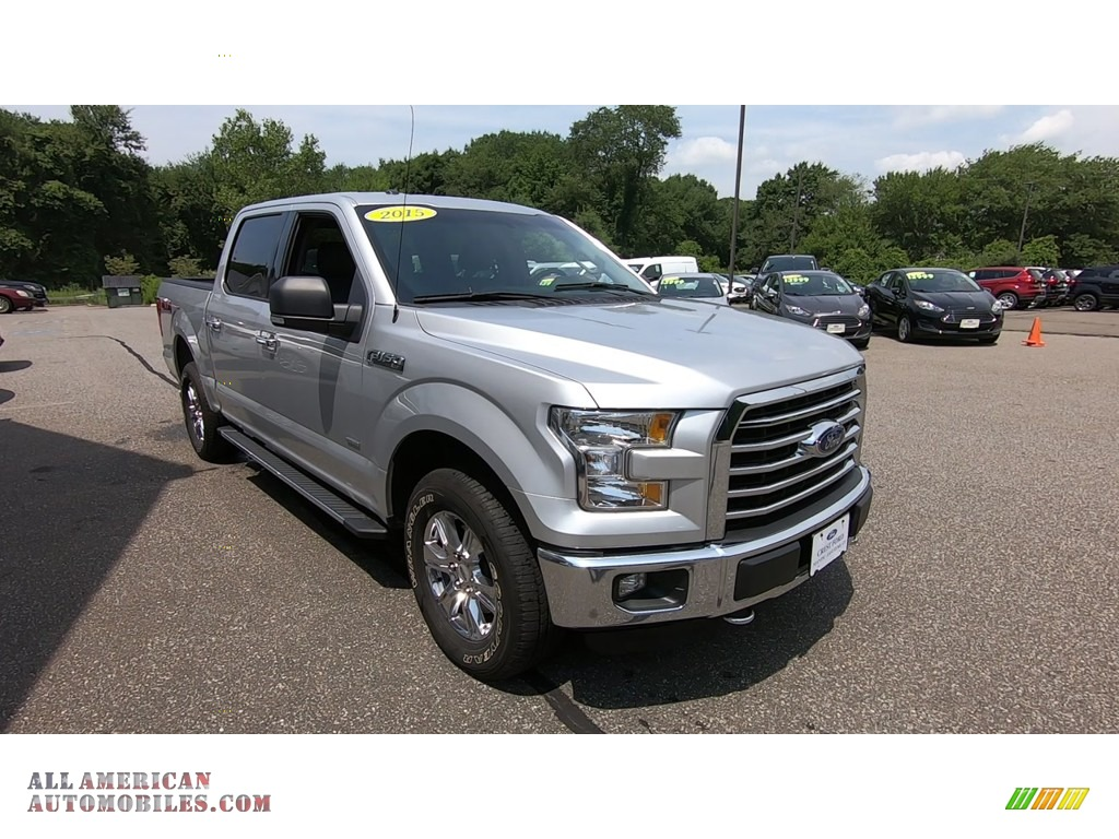 2015 F150 XLT SuperCrew 4x4 - Ingot Silver Metallic / Medium Earth Gray photo #1