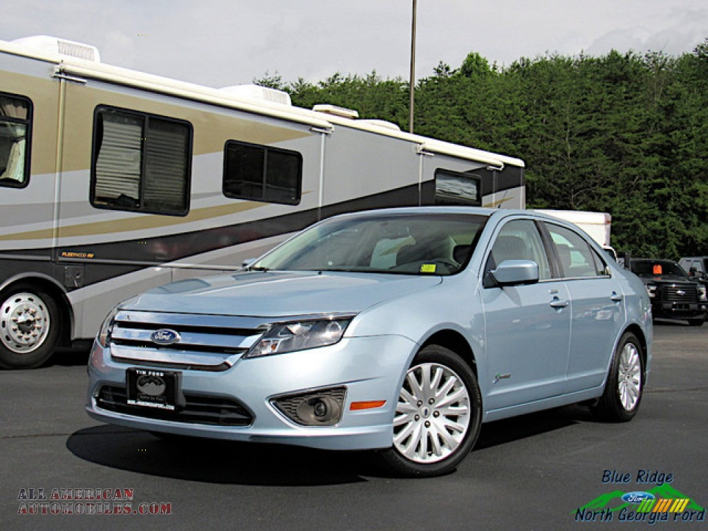 2011 Fusion Hybrid - Light Ice Blue Metallic / Medium Light Stone photo #1