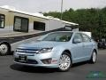 Ford Fusion Hybrid Light Ice Blue Metallic photo #1