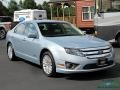 Ford Fusion Hybrid Light Ice Blue Metallic photo #7