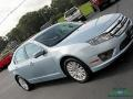 Ford Fusion Hybrid Light Ice Blue Metallic photo #31