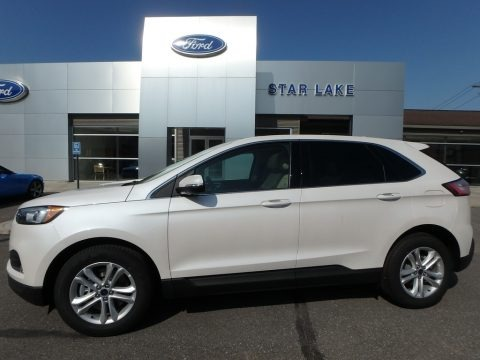 White Platinum 2019 Ford Edge SEL AWD