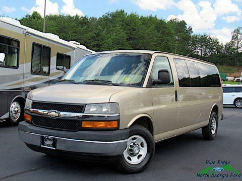 Sandstone Metallic 2011 Chevrolet Express LT 3500 Extended Passenger Van