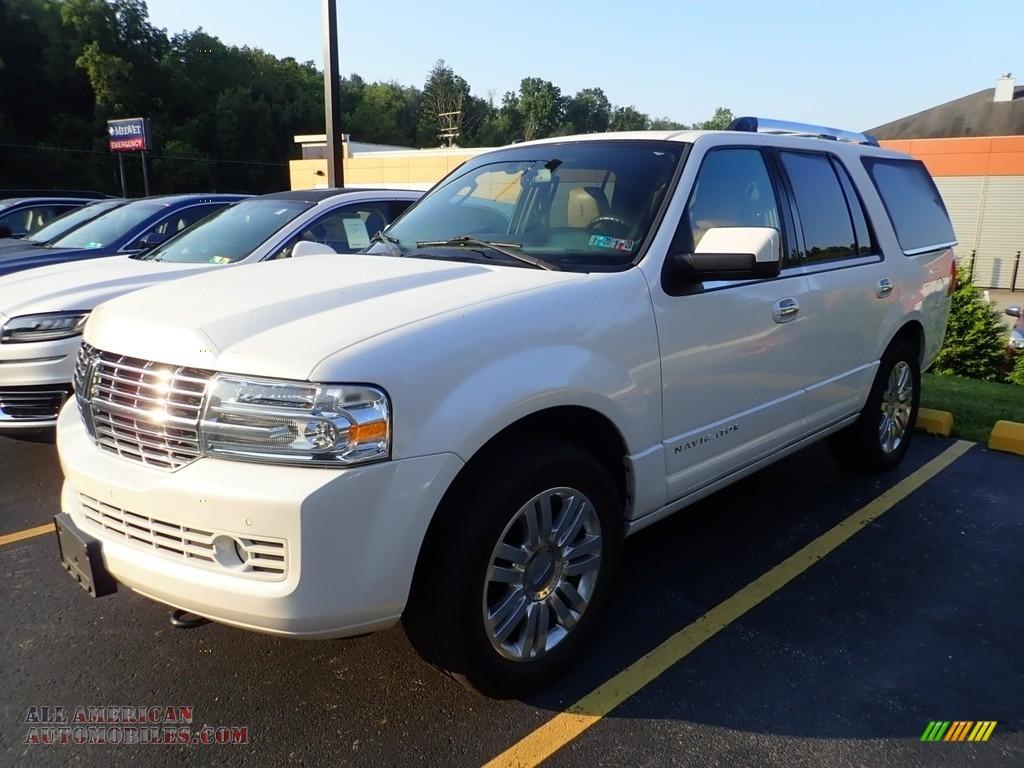 2012 Navigator 4x4 - White Platinum Metallic Tri-Coat / Canyon/Black photo #1
