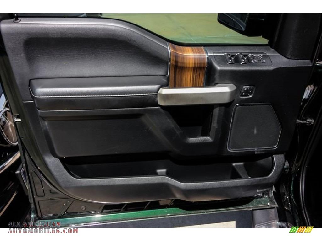 2015 F150 XLT SuperCrew - Green Gem Metallic / Medium Light Camel photo #19