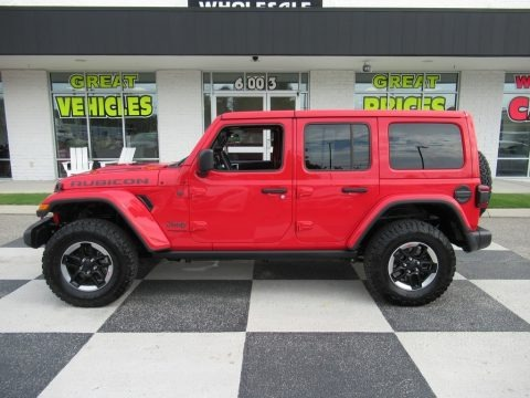 Firecracker Red 2018 Jeep Wrangler Unlimited Rubicon 4x4