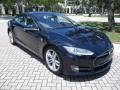 Tesla Model S P85 Performance Blue Metallic photo #13