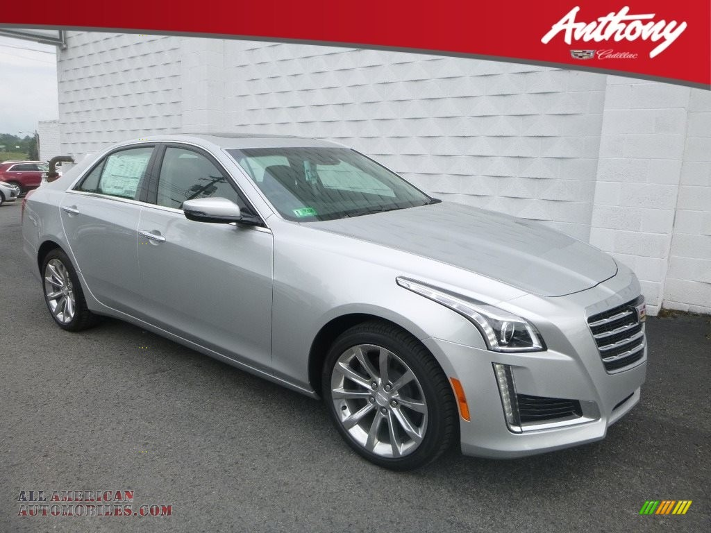 Radiant Silver Metallic / Jet Black Cadillac CTS Luxury AWD