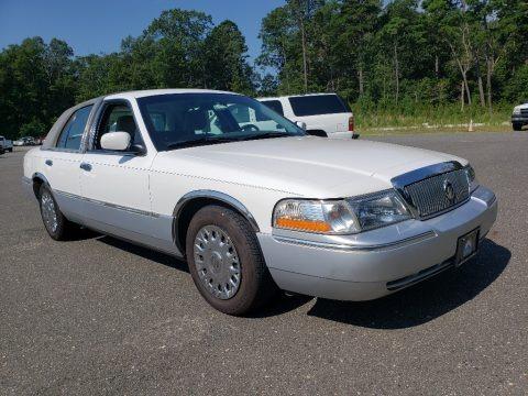 Vibrant White 2003 Mercury Grand Marquis GS