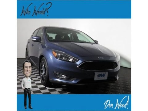 Blue Metallic 2018 Ford Focus SEL Hatch