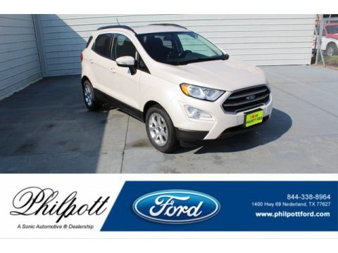 White Platinum 2018 Ford EcoSport SE