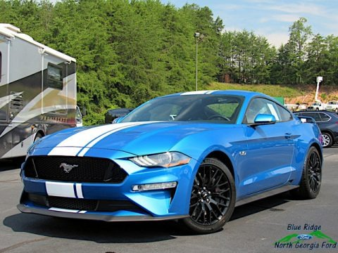Velocity Blue 2019 Ford Mustang GT Premium Fastback