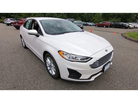 Oxford White 2019 Ford Fusion SE