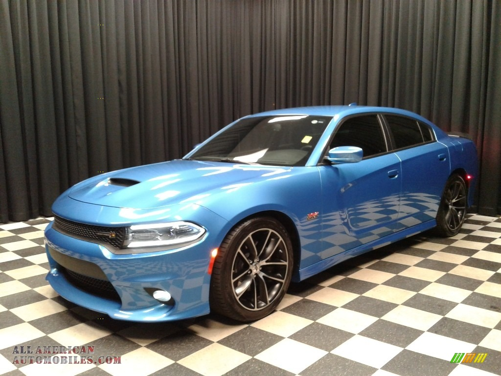 2018 Charger R/T Scat Pack - B5 Blue Pearl / Black photo #2