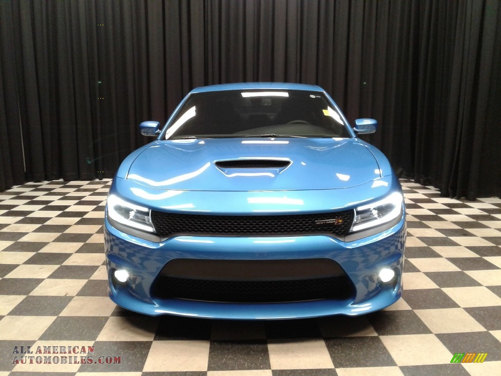 2018 Charger R/T Scat Pack - B5 Blue Pearl / Black photo #3