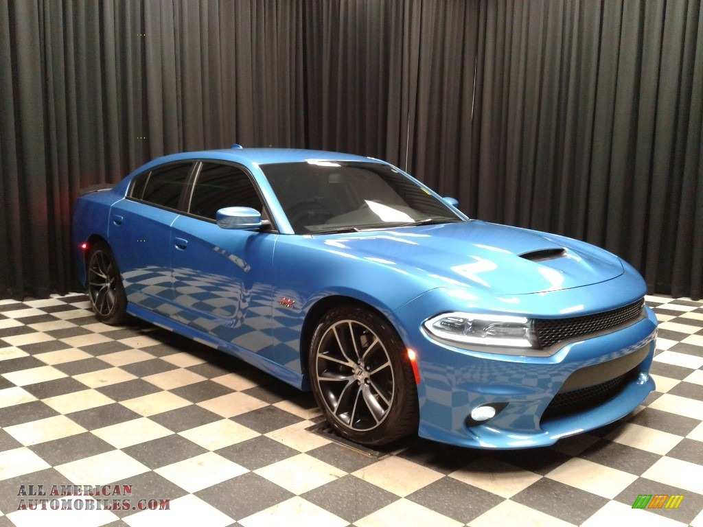 2018 Charger R/T Scat Pack - B5 Blue Pearl / Black photo #4