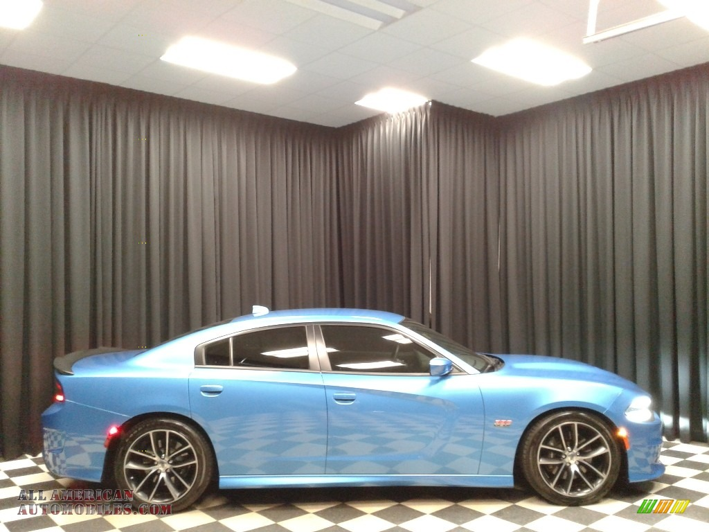 2018 Charger R/T Scat Pack - B5 Blue Pearl / Black photo #5