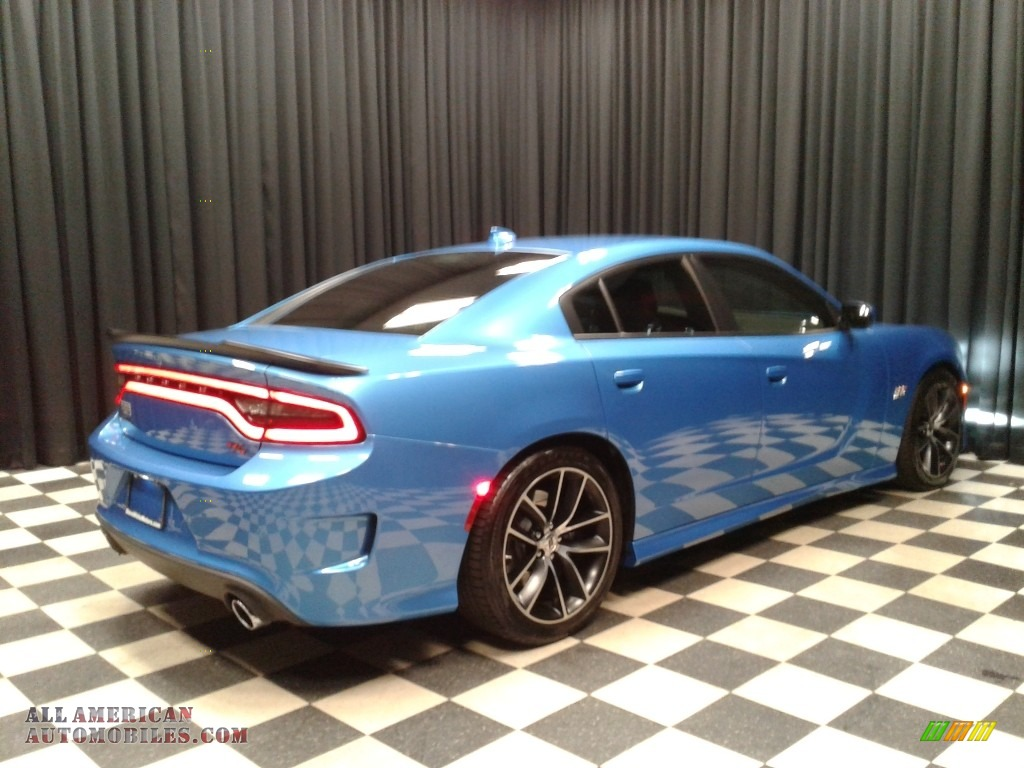 2018 Charger R/T Scat Pack - B5 Blue Pearl / Black photo #6