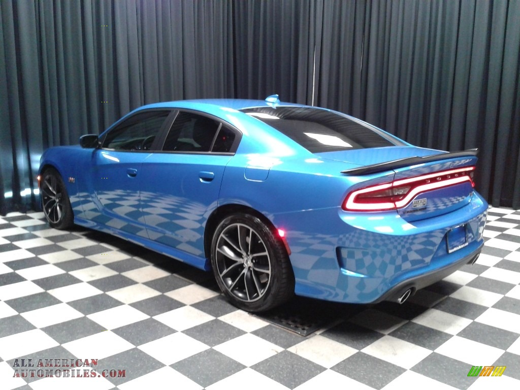 2018 Charger R/T Scat Pack - B5 Blue Pearl / Black photo #8