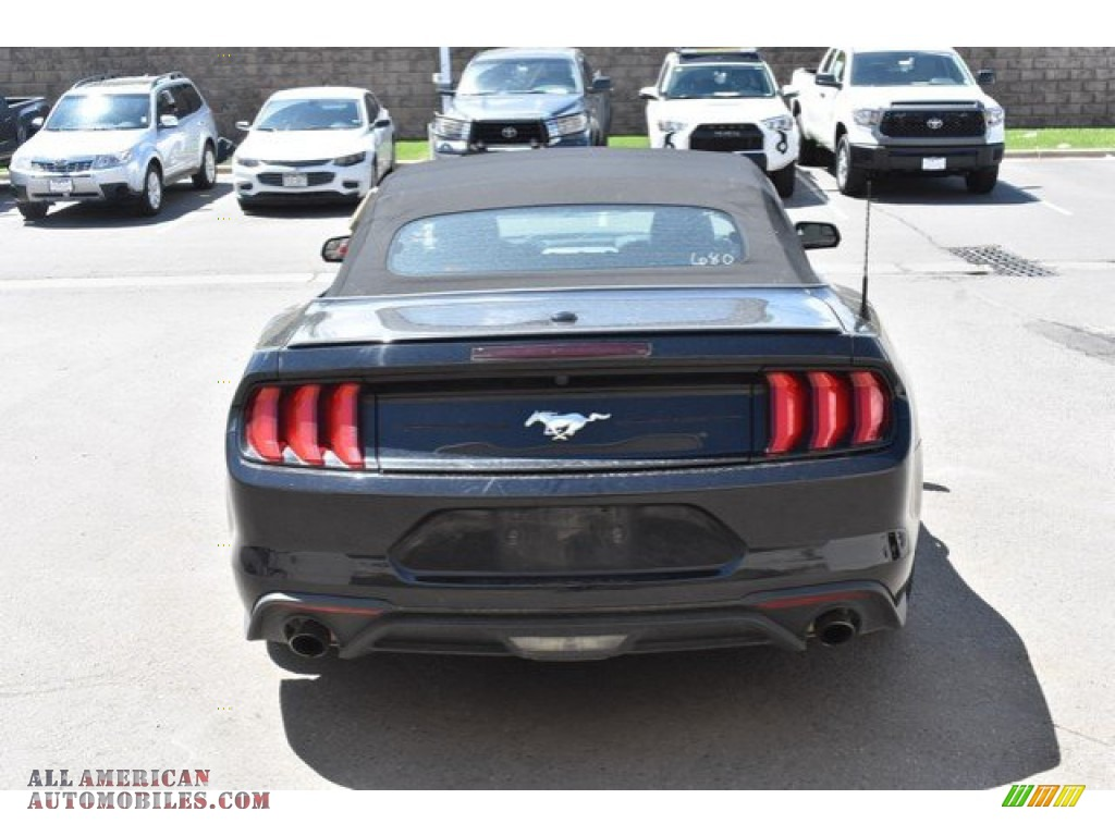 2018 Mustang EcoBoost Premium Convertible - Shadow Black / Ebony photo #5