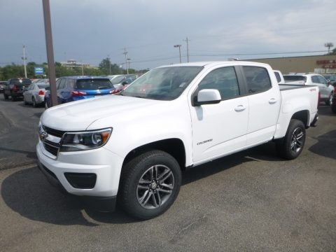 Summit White 2019 Chevrolet Colorado WT Crew Cab 4x4