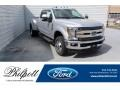 Ford F350 Super Duty Lariat Crew Cab 4x4 Ingot Silver photo #1