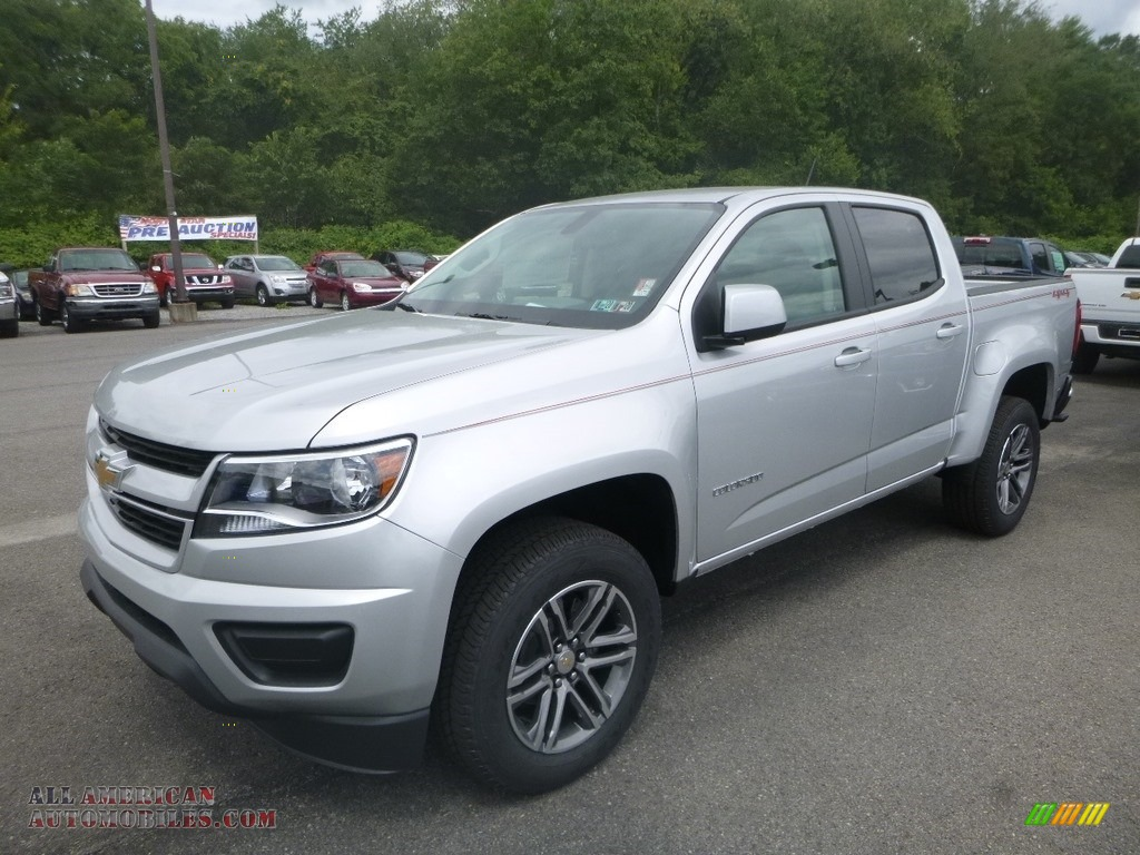 Silver Ice Metallic / Jet Black/Dark Ash Chevrolet Colorado WT Crew Cab 4x4