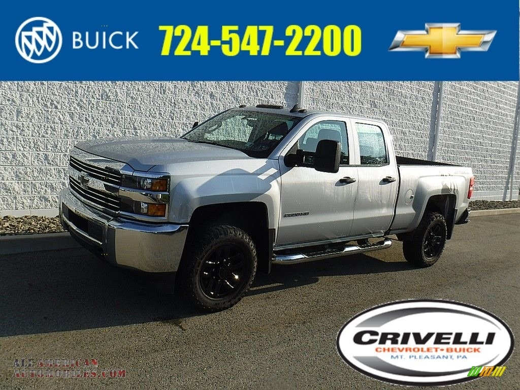 2017 Silverado 2500HD Work Truck Double Cab 4x4 - Summit White / Dark Ash/Jet Black photo #1