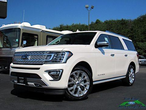 White Platinum Metallic Tri-Coat 2019 Ford Expedition Platinum 4x4
