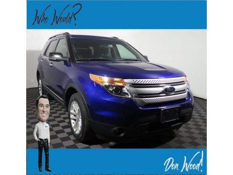 Deep Impact Blue Metallic 2013 Ford Explorer XLT 4WD