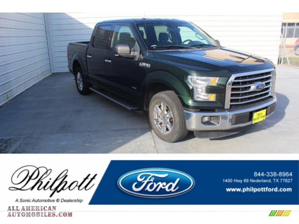 Green Gem Metallic / Medium Earth Gray Ford F150 XLT SuperCrew