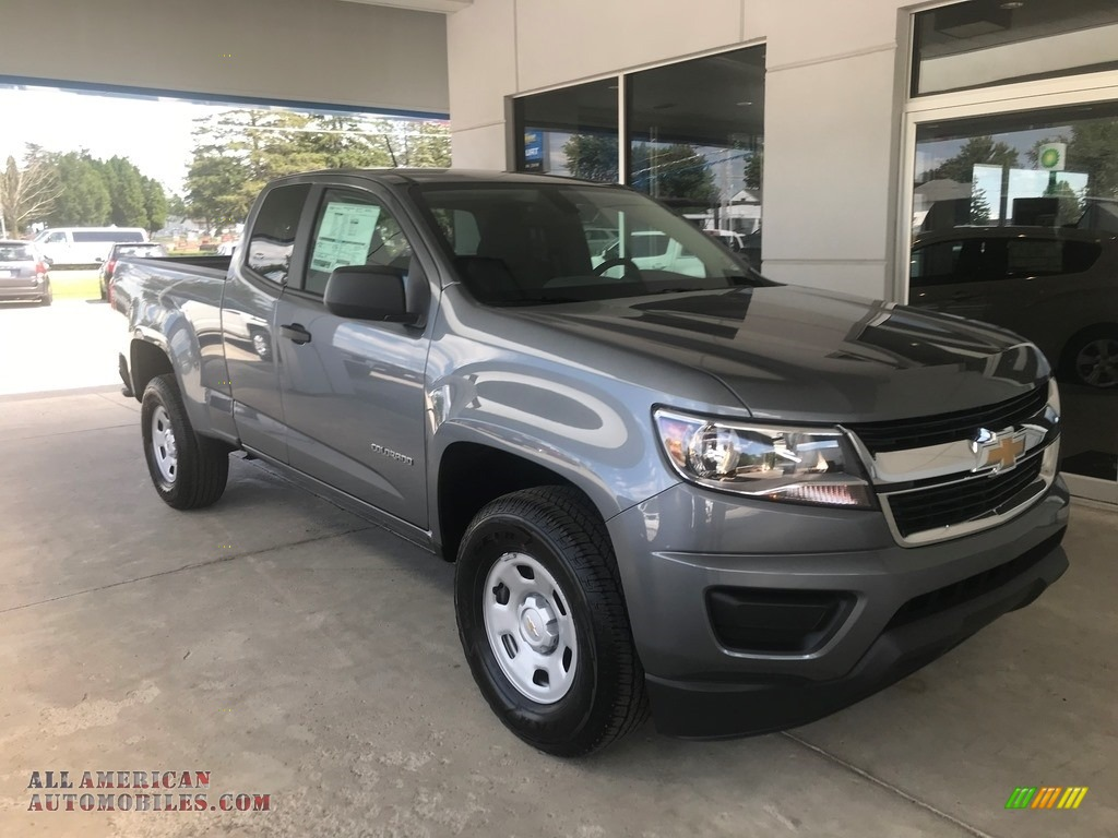 Satin Steel Metallic / Ash Gray/Jet Black Chevrolet Colorado WT Extended Cab