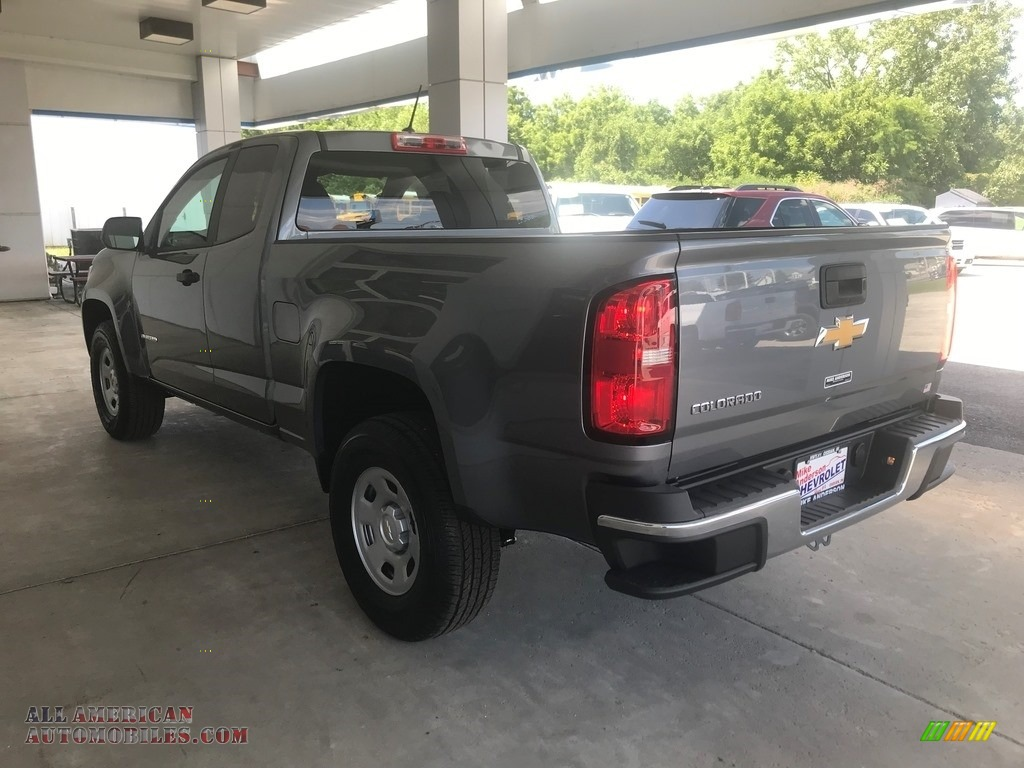 2020 Colorado WT Extended Cab - Satin Steel Metallic / Ash Gray/Jet Black photo #6