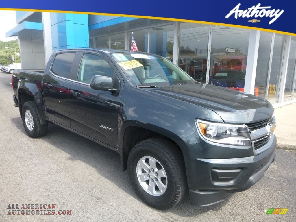 Cyber Gray Metallic / Jet Black/­Dark Ash Chevrolet Colorado WT Crew Cab 4x4