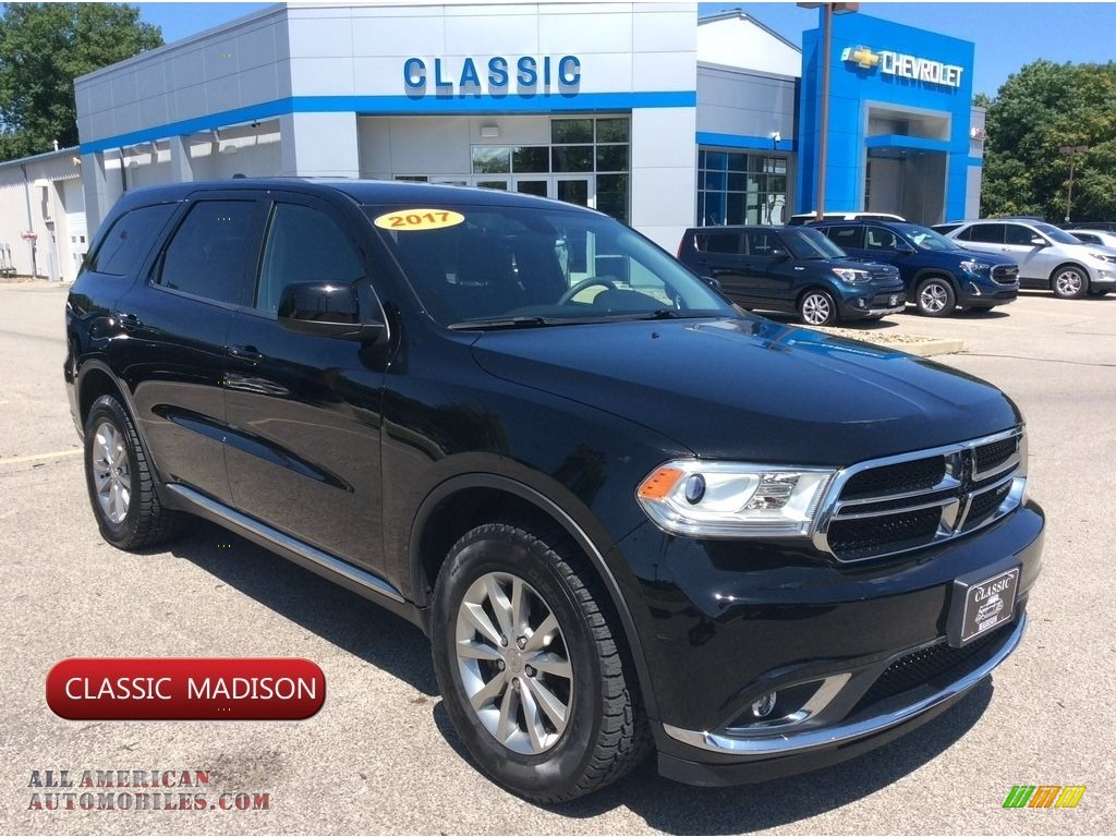 2017 Durango SXT AWD - DB Black Crystal / Black photo #1