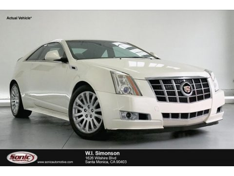 White Diamond Tricoat 2012 Cadillac CTS Coupe