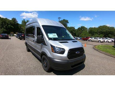 Ingot Silver 2019 Ford Transit Passenger Wagon XL 350 HR Long