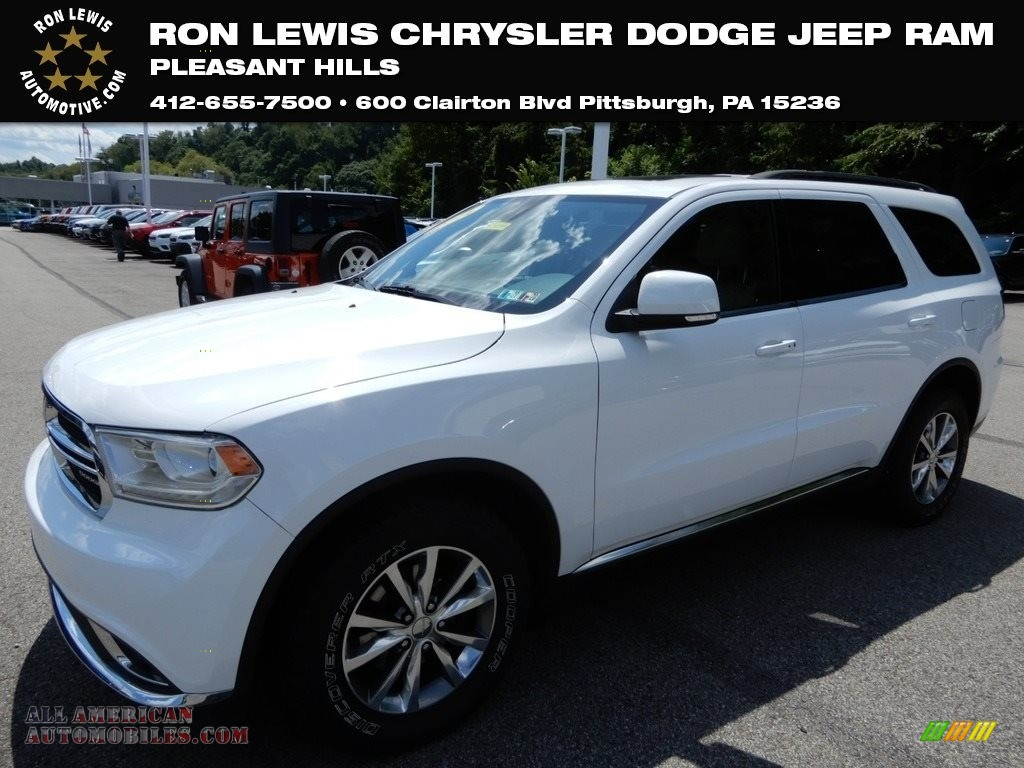 2014 Durango Limited AWD - Bright White / Black/Light Frost Beige photo #1