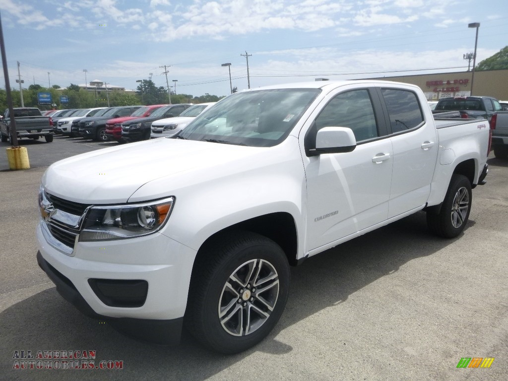 Summit White / Ash Gray/Jet Black Chevrolet Colorado WT Crew Cab 4x4