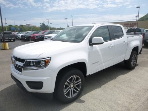 Summit White 2020 Chevrolet Colorado WT Crew Cab 4x4