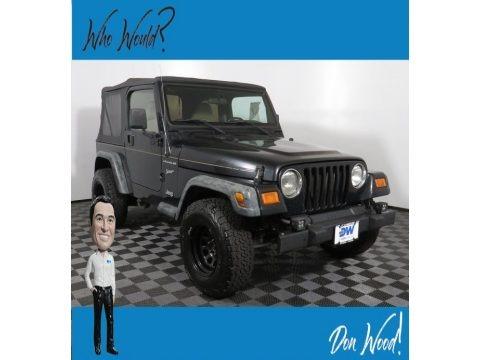 Black 2002 Jeep Wrangler Sport 4x4