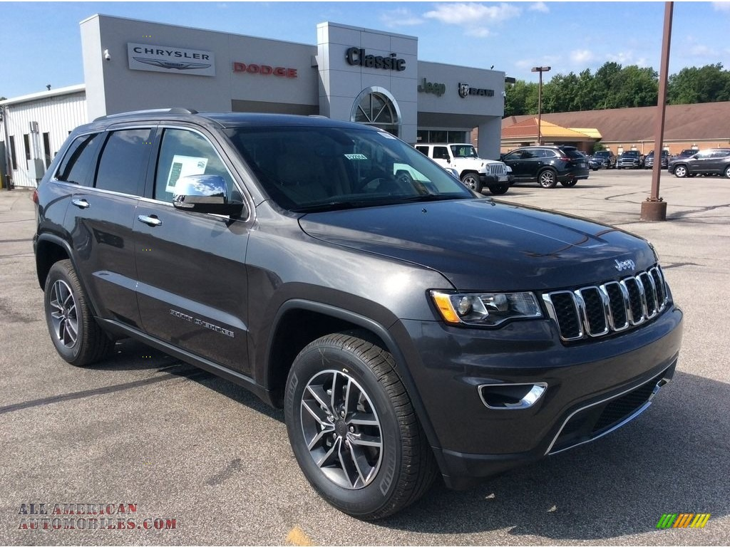 2019 Grand Cherokee Limited 4x4 - Granite Crystal Metallic / Light Frost Beige/Black photo #1