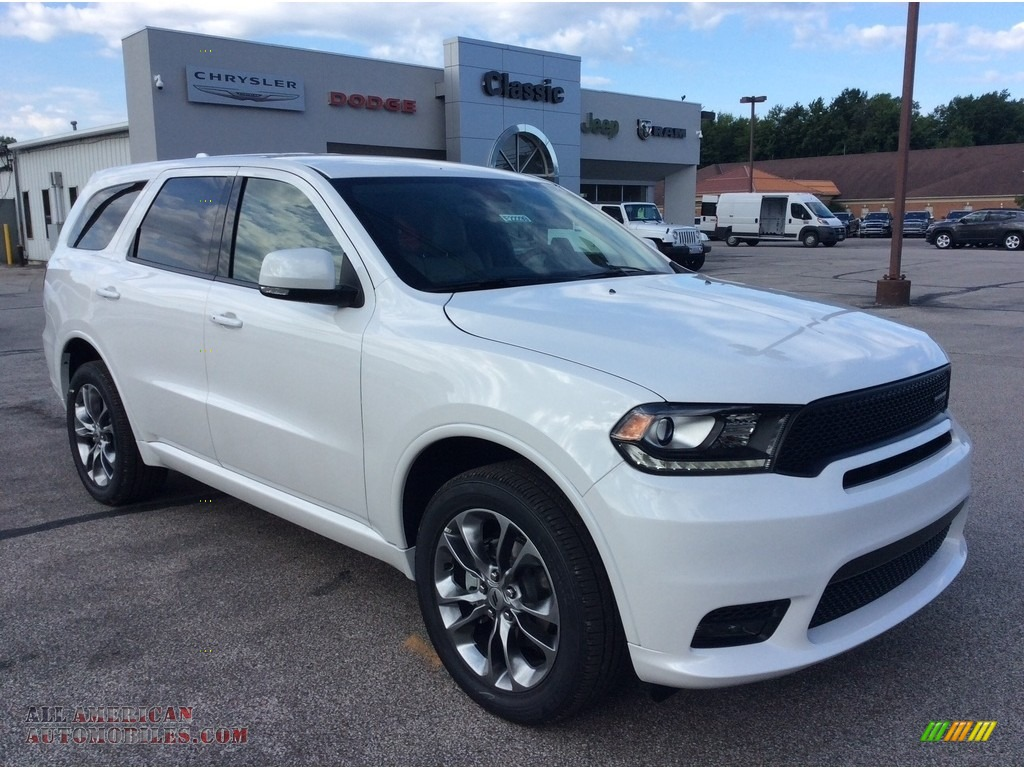 2019 Durango GT AWD - Vice White / Black photo #1