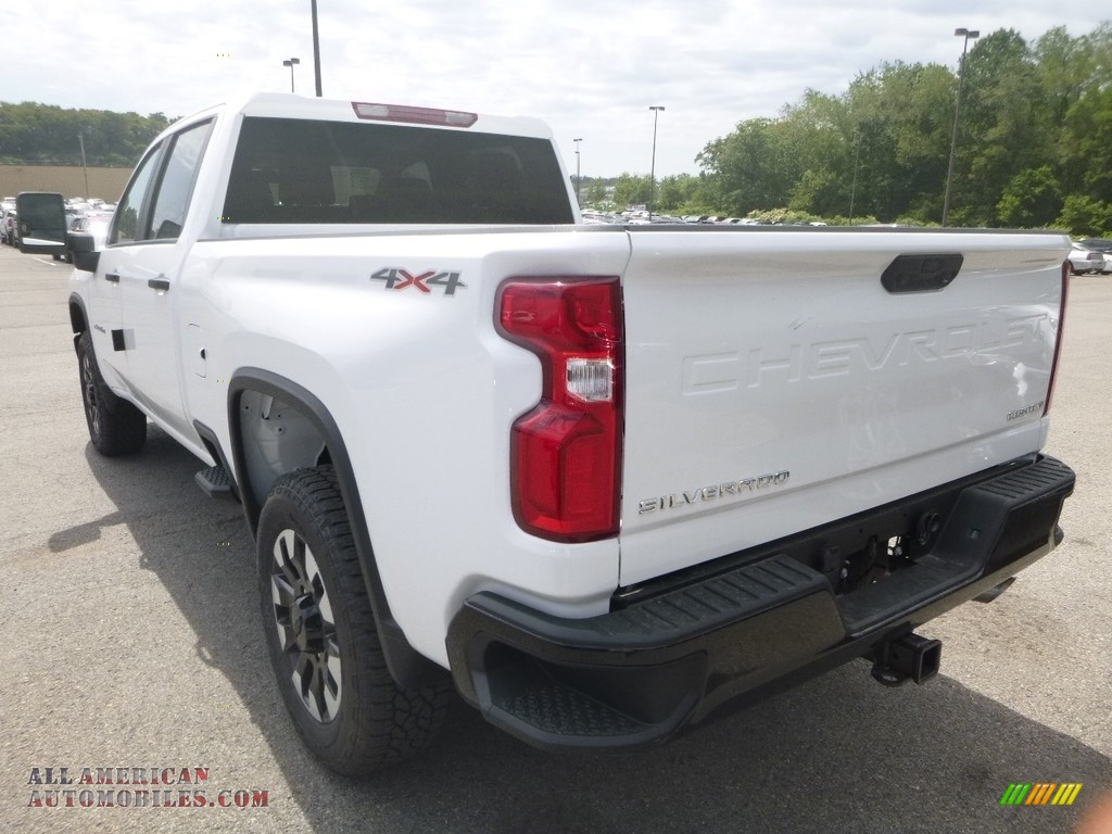 2020 Silverado 2500HD Custom Crew Cab 4x4 - Summit White / Jet Black photo #3