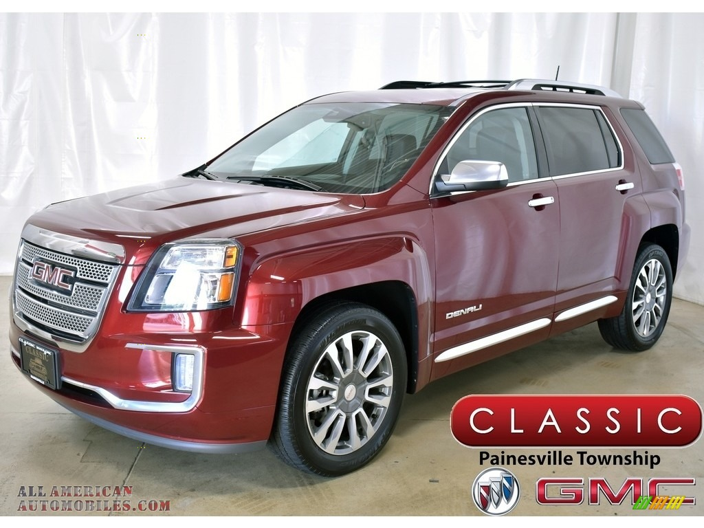 Crimson Red Tintcoat / Jet Black GMC Terrain Denali AWD