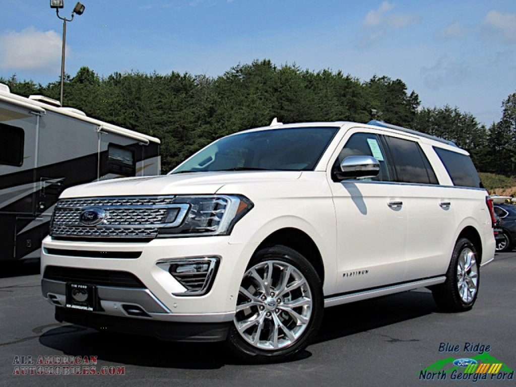 White Platinum Metallic Tri-Coat / Medium Soft Ceramic Ford Expedition Platinum Max 4x4