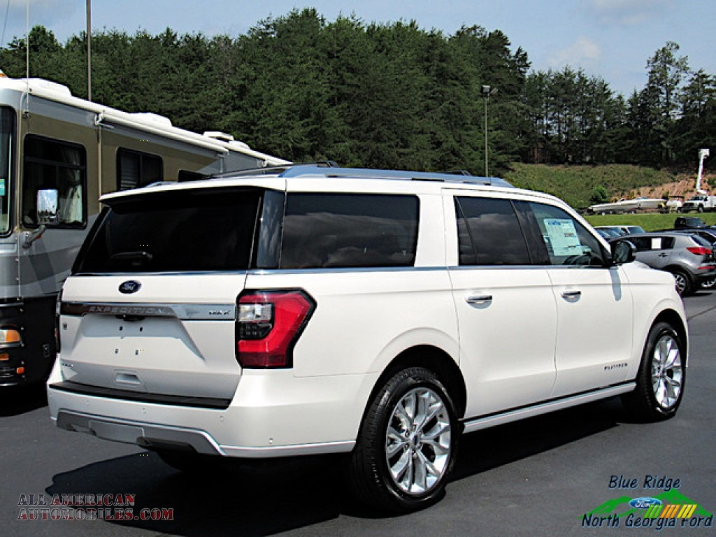 2019 Expedition Platinum Max 4x4 - White Platinum Metallic Tri-Coat / Medium Soft Ceramic photo #5