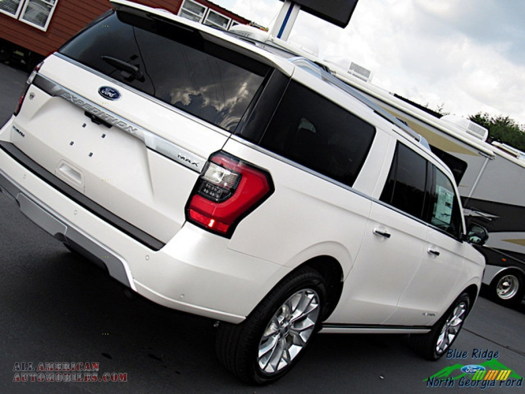 2019 Expedition Platinum Max 4x4 - White Platinum Metallic Tri-Coat / Medium Soft Ceramic photo #37