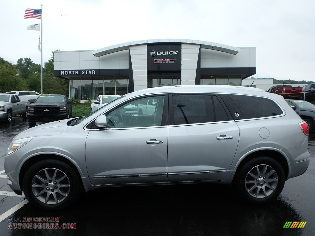 Quicksilver Metallic / Light Titanium Buick Enclave Leather AWD